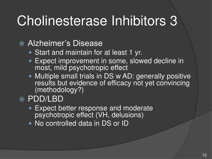 Cholinesterase Inhibitors 3