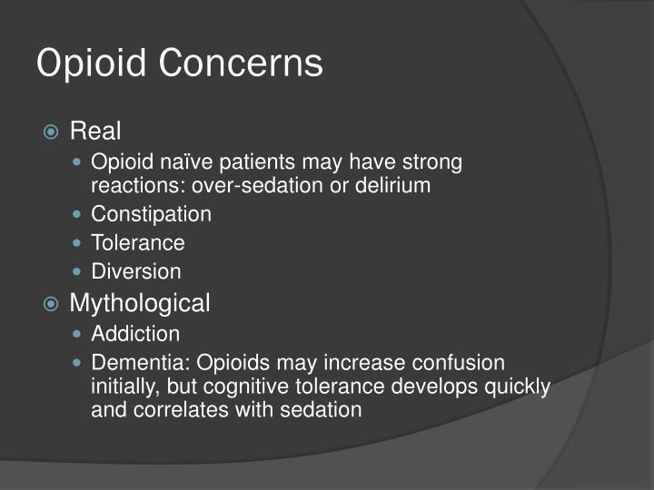 Opioid Concerns