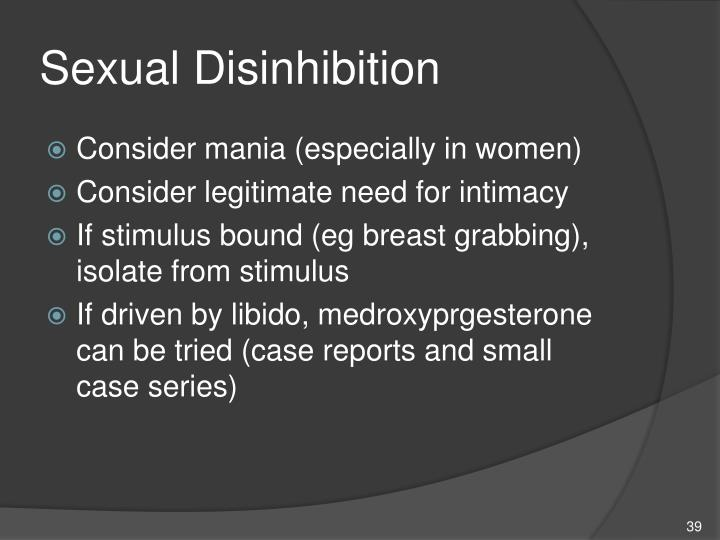 Sexual Disinhibition