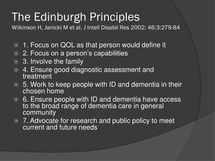 The Edinburgh Principles