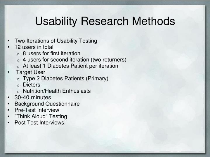 Usability Research Methods