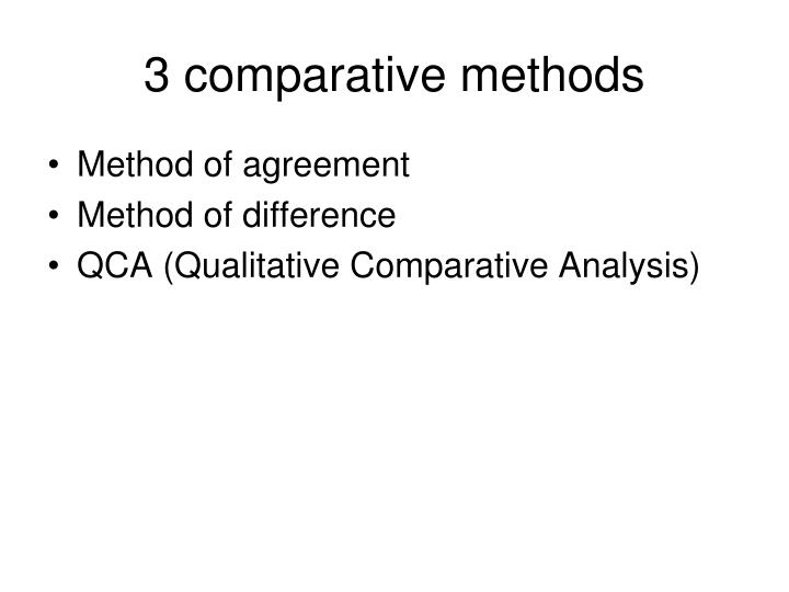 3 comparative methods