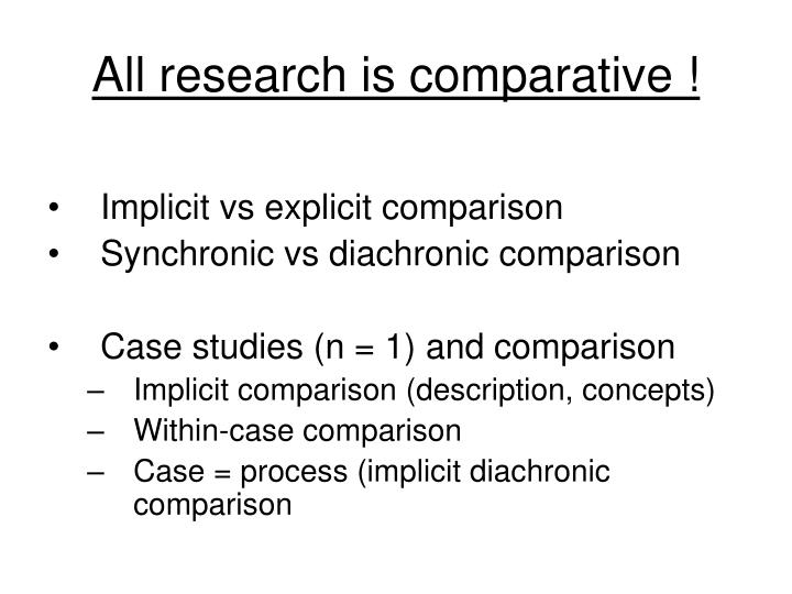 All research is comparative
