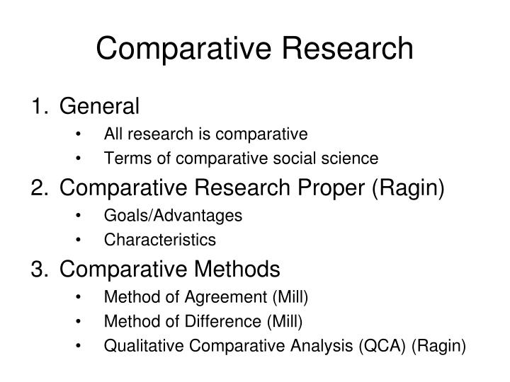 Comparative research1