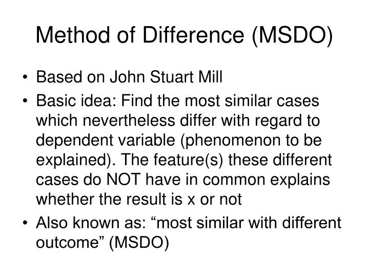 Method of Difference (MSDO)