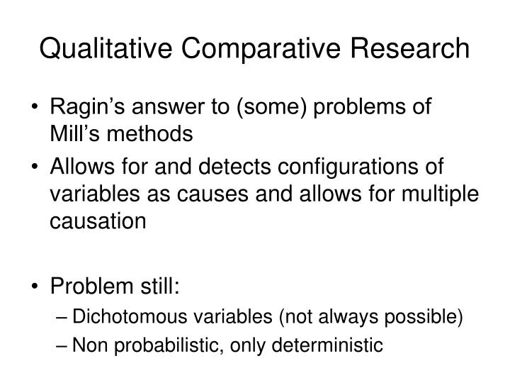 Qualitative Comparative Research
