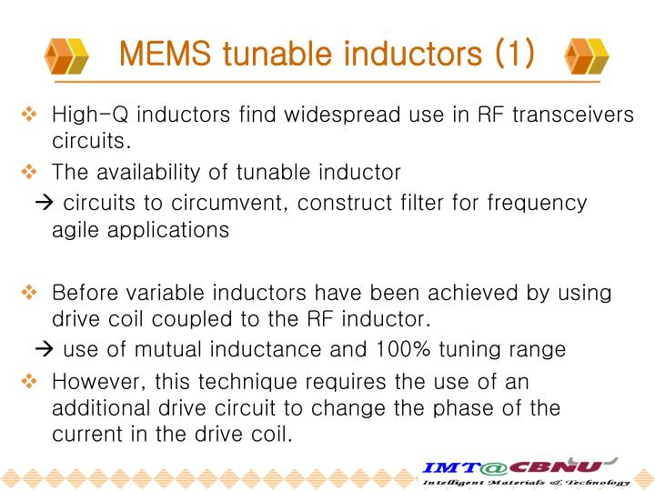 MEMS tunable inductors (1)