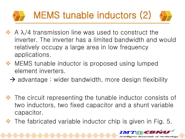 MEMS tunable inductors (2)