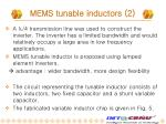 mems tunable inductors 2