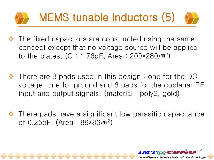 MEMS tunable inductors (5)