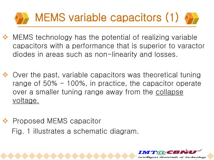 MEMS variable capacitors (1)