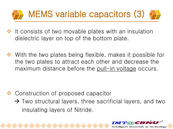 MEMS variable capacitors (3)