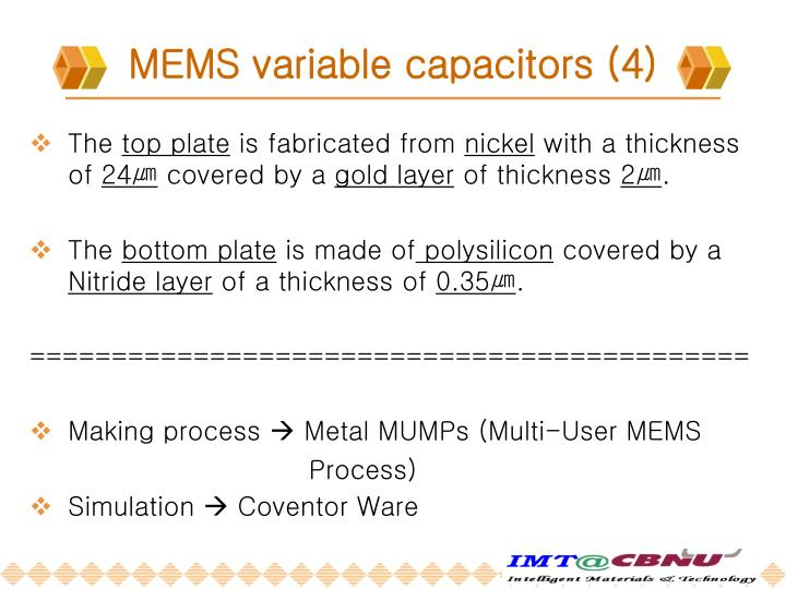 MEMS variable capacitors (4)