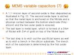 mems variable capacitors 7