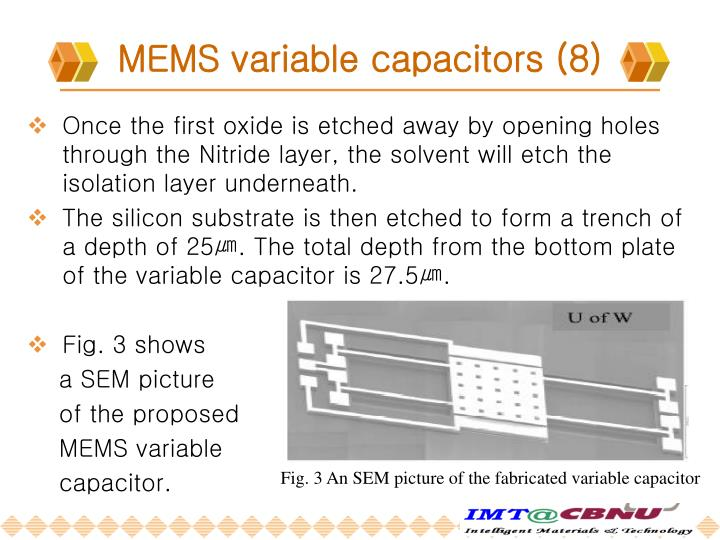 MEMS variable capacitors (8)