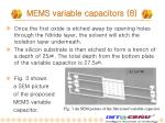 mems variable capacitors 8