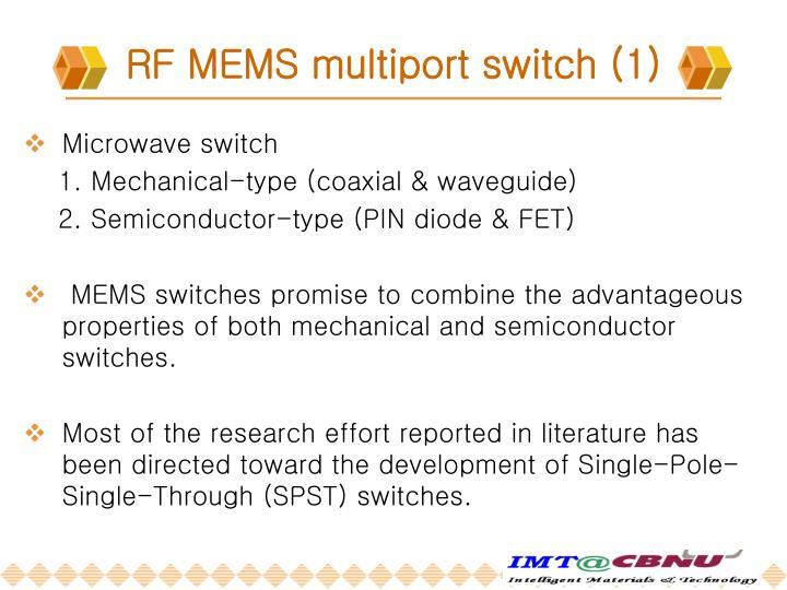 RF MEMS multiport switch (1)