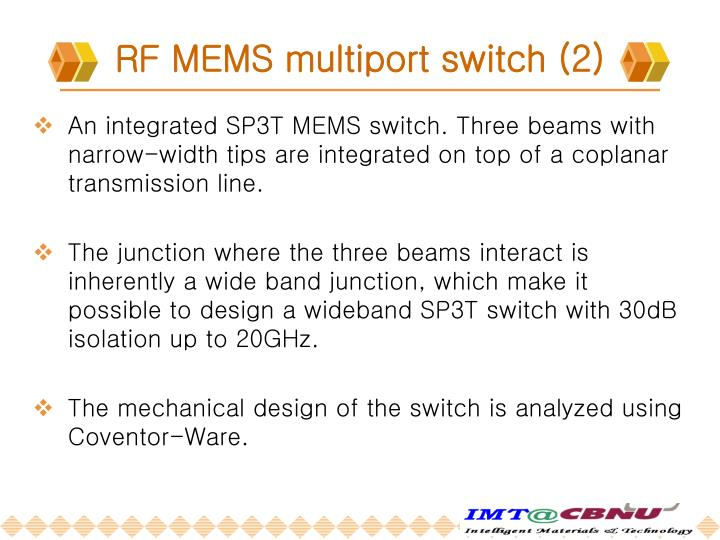 RF MEMS multiport switch (2)