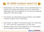 rf mems multiport switch 4