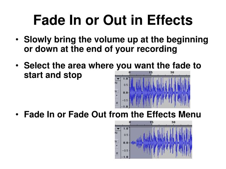 Fade In or Out in Effects