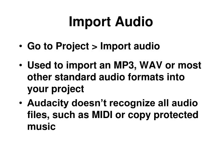 Import Audio