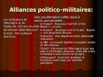 alliances politico militaires