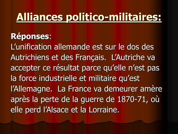 Alliances politico-militaires: