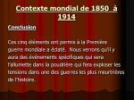 contexte mondial de 1850 191411