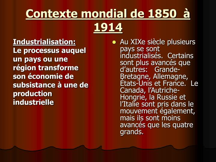 Industrialisation:
