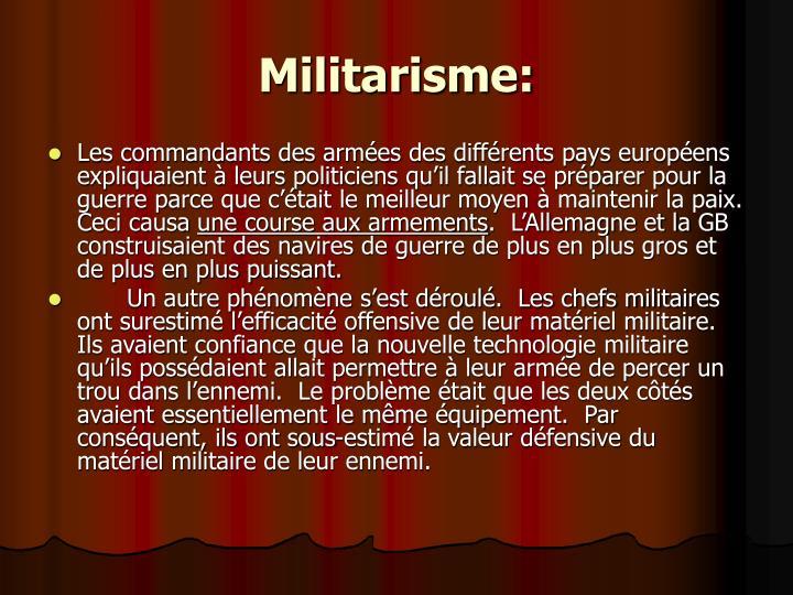 Militarisme: