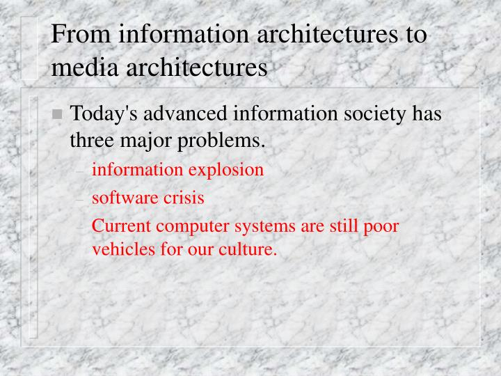 From information architectures to media architectures