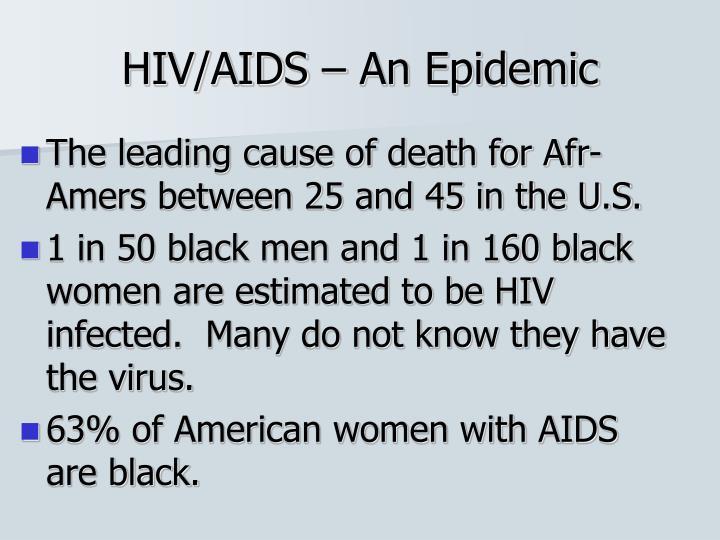 HIV/AIDS – An Epidemic