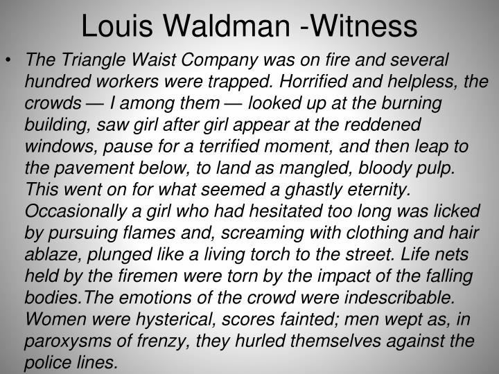 Louis Waldman -Witness