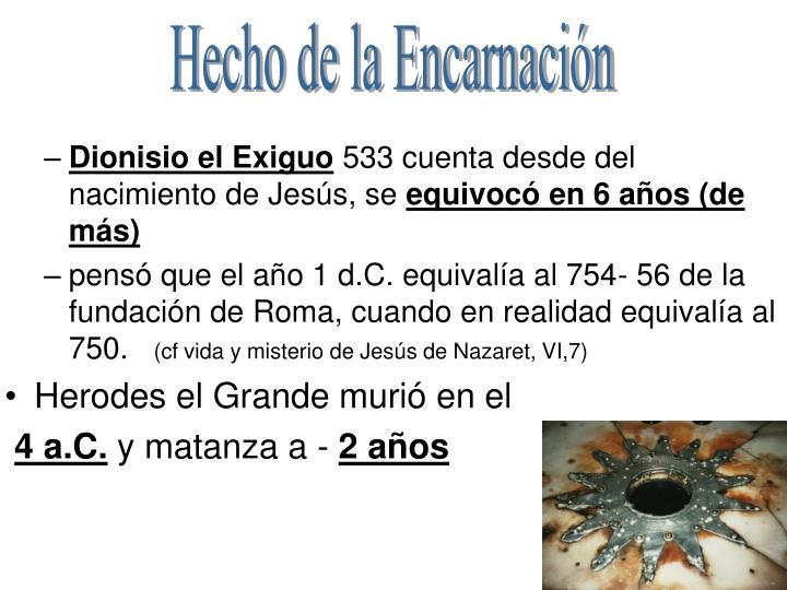 Hecho de la Encarnación