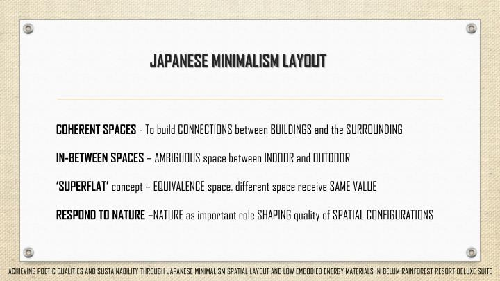 JAPANESE MINIMALISM LAYOUT