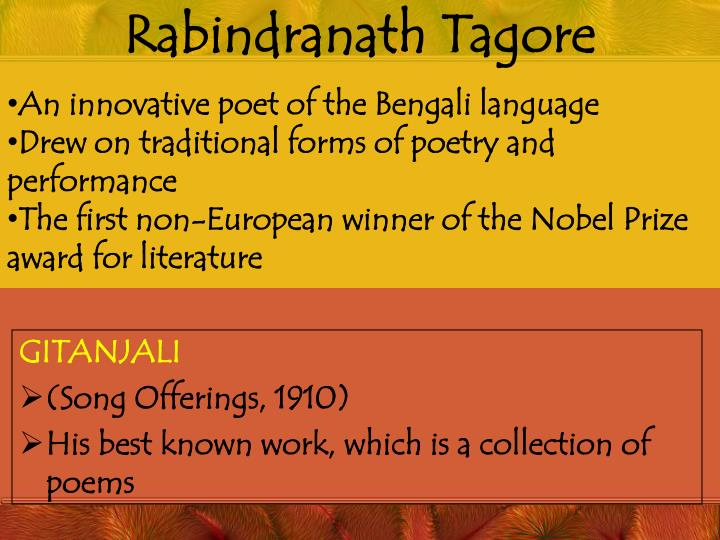 rabindranath tagores nobel prize acceptance speech essay Learn about nigerian playwright wole soyinka, winner of the 1986 nobel prize for he dedicated his nobel acceptance speech to nelson rabindranath tagore.