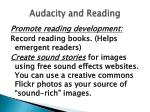 audacity and reading