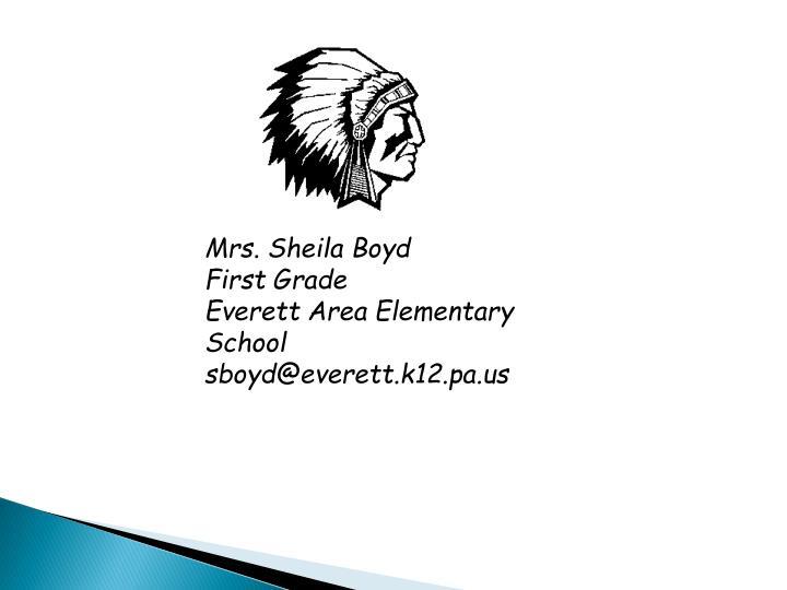 Mrs. Sheila Boyd