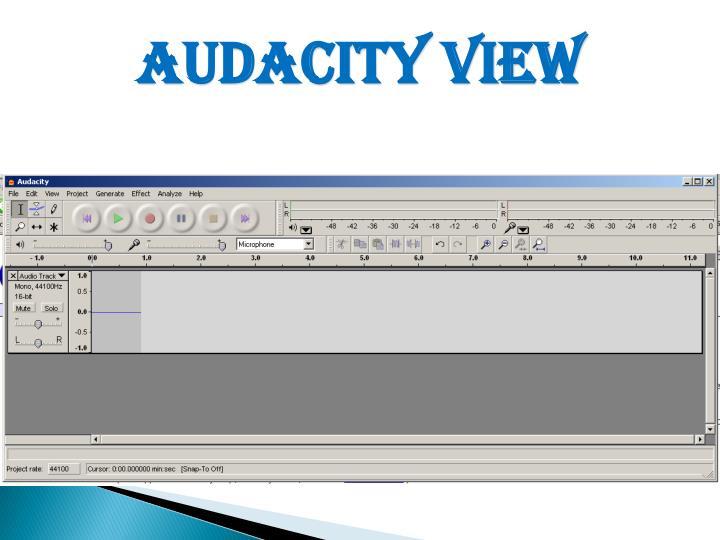 Audacity View