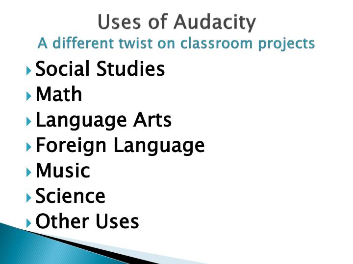 Uses of Audacity