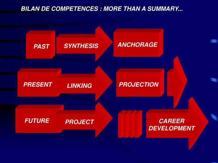BILAN DE COMPETENCES : MORE THAN A SUMMARY...