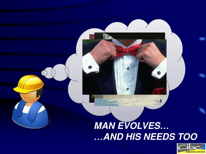 MAN EVOLVES…