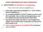 four components of paul s doxology