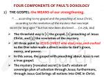 four components of paul s doxology1