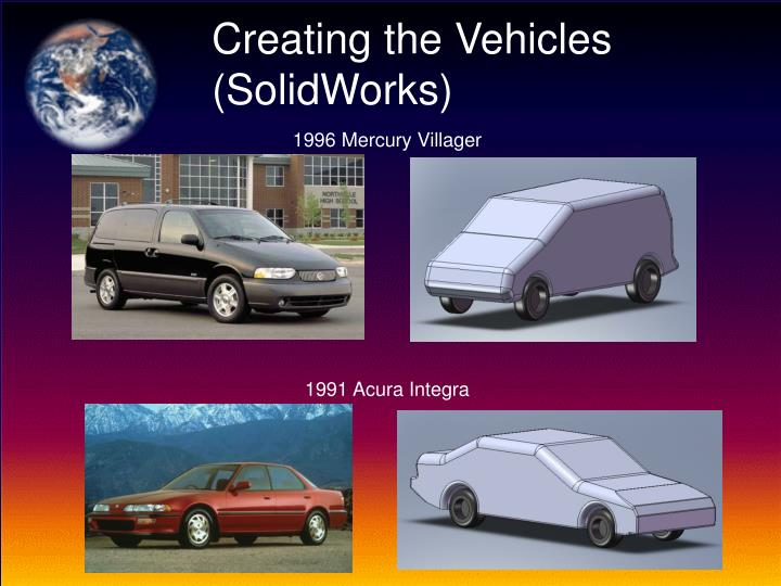 Creating the Vehicles (SolidWorks)