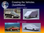 creating the vehicles solidworks