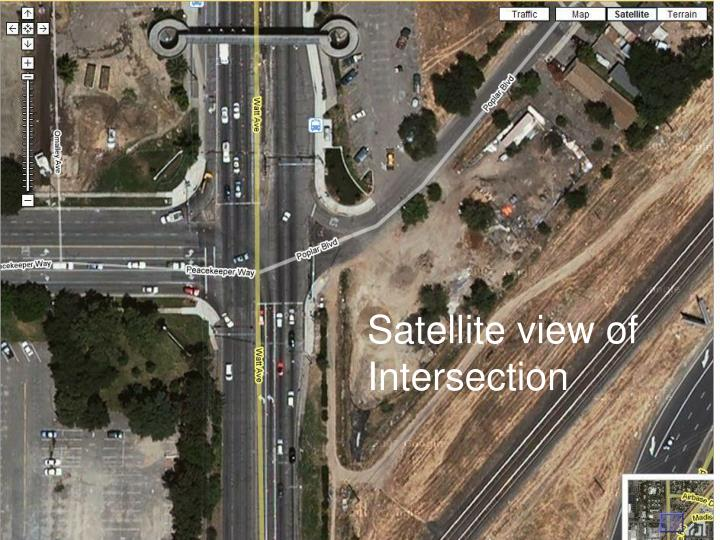 Satellite view of intersection