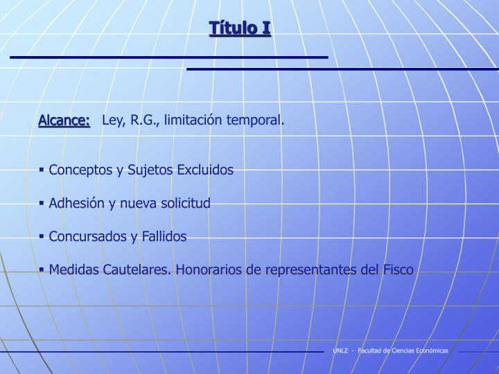 Título I