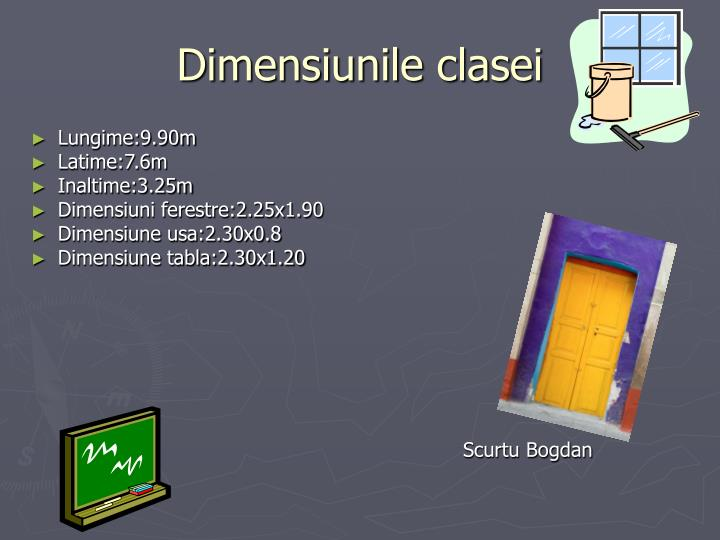 Dimensiunile clasei