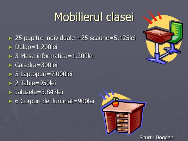 Mobilierul clasei